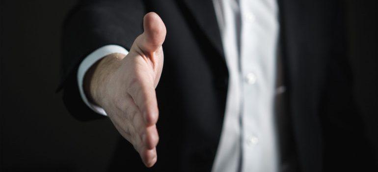 Man lending his hand