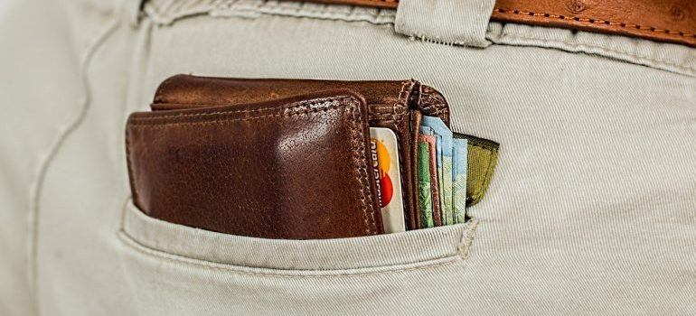 a wallet - pack in your essentials bag