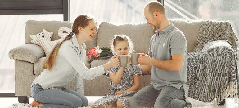 Family having happy moments