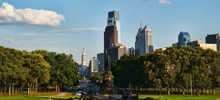 Picture of Philadelphia skyline