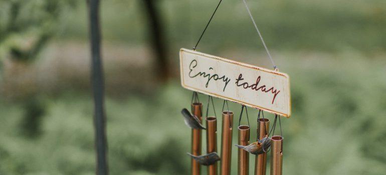 enjoy today sign