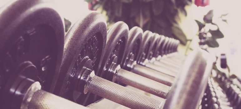 Picture of barbells