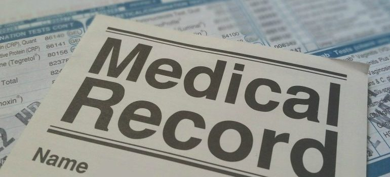 Picture of medical records