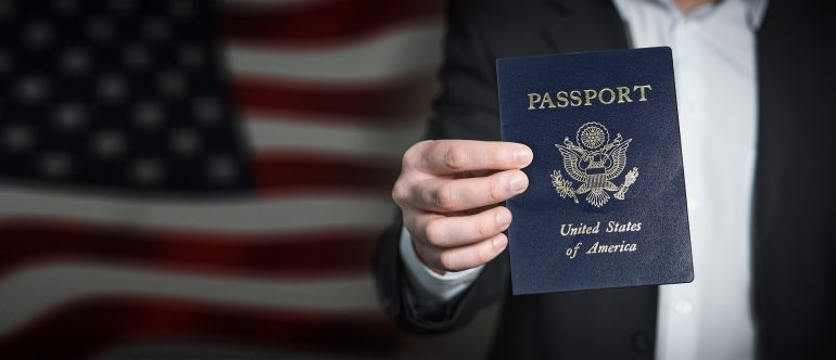 Picture of a passport that must be on the list of documents you should prepare when moving long distance