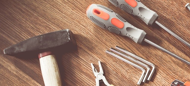 Tools on a table.