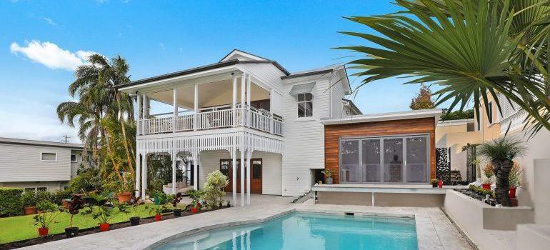 A luxurious house.