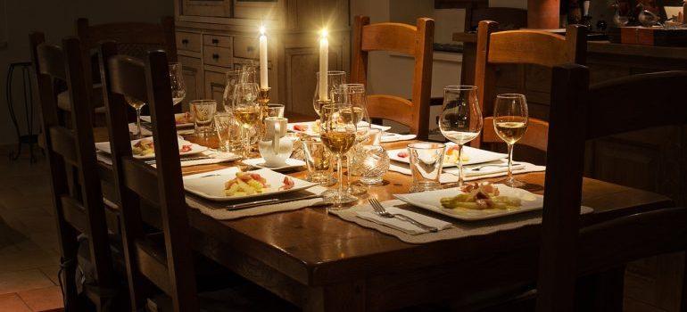 A dinner table.