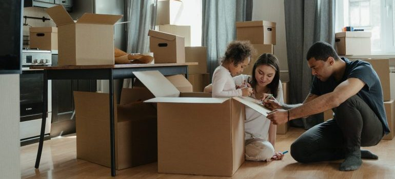 A family that is to be relocated by one of the most reputable long distance moving companies Buffalo NY has to offer.