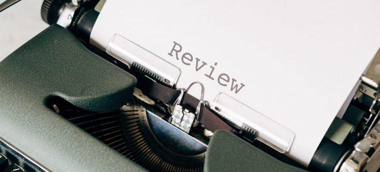 A typewriter.