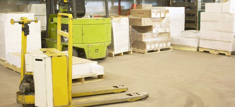 A forklift in the warehouse as an advantage when you have storage options.