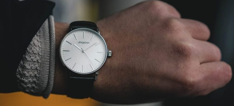 person wearing white watch