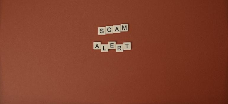 scam alert written
