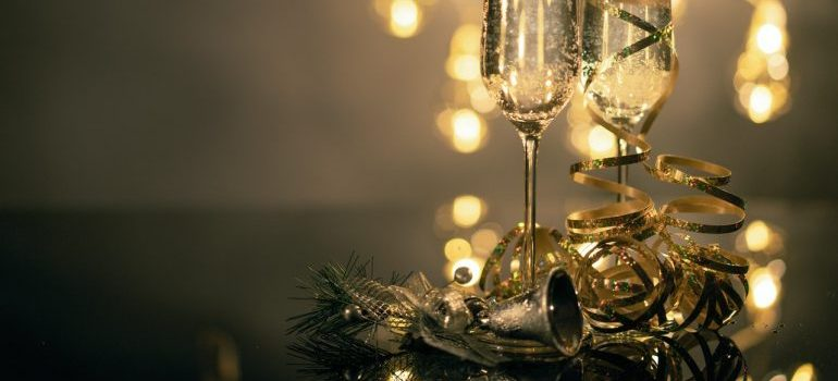 sparkling white wine during holidays