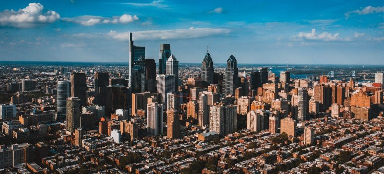 a panoramic view from atop of Philadelphia
