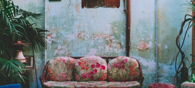old furniture, sofa