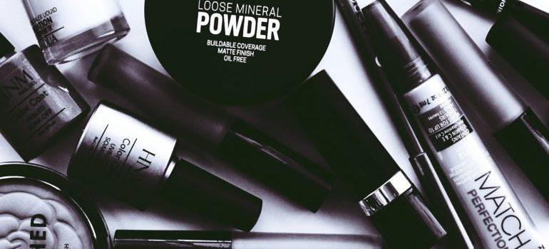 pile of makeup