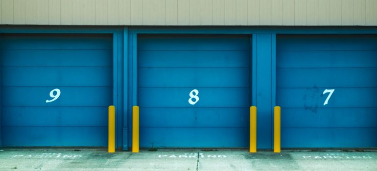 a pictur of storage entrances labelled 9, 8 and 7