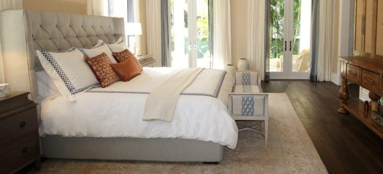 a comfortable bedroom