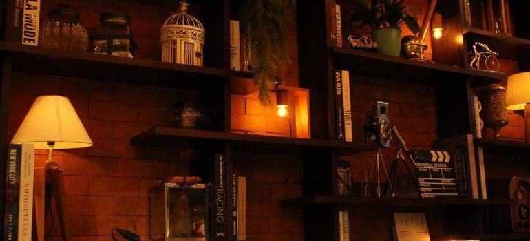 nice wooden shelves