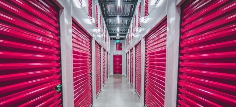pink storage doors, representing a way to understand different types of storage